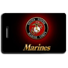UNITED STATES MARINE CORPS BLACK LOGO LUGGAGE TAGS