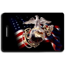 USMC Black Eagle Flag Luggage Tag