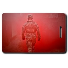 National Guard Red Soldier Luggage Tag