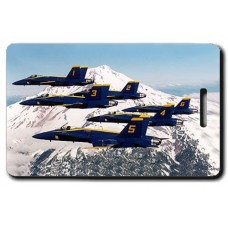 USN Blue Angels 1-6-1 with Naval Aviator Wings Luggage Tag