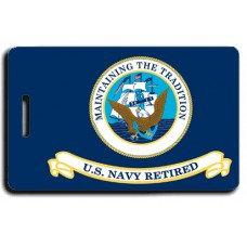 USN Retired Flag with Naval Aircrewman Wings  Luggage Tag