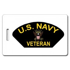 USN Veteran Patch Luggage Tag