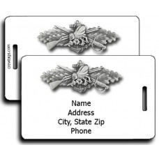 SeaBee Enlisted Combat Warfare Luggage Tags - Same Both Sides