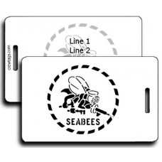 SeaBee Stencil Luggage Tags