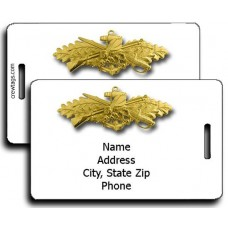 SeaBee Combat Warfare Officer Luggage Tags - Same Both Sides
