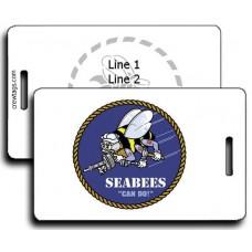 SeaBee Logo Stencil Luggage Tags