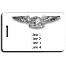NAVAL ENLISTED AVIATION WARFARE SPECIALIST WINGS LUGGAGE TAGS