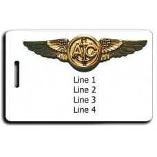 NAVAL AIRCREWMAN WINGS LUGGAGE TAGS