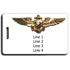Naval Astronaut Wings Luggage Tag