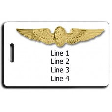 Naval Aviation Psychologist Wings Luggage Tag