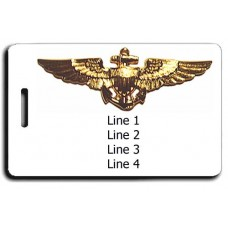 Naval Aviator Wings Luggage Tag
