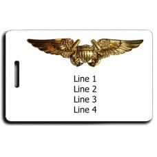 UNITED STATES MARINE CORP LOGO WITH FLIGHT OFFICER WINGS LUGGAGE TAGS