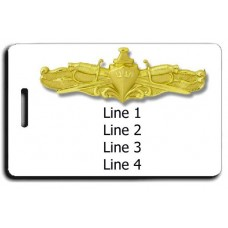 Naval Surface Warfare Officer Luggage Tag