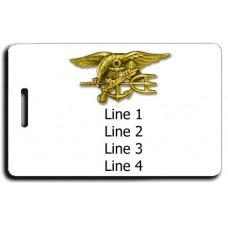 Naval Special Warfare SEAL Luggage Tag