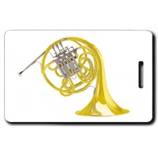 Double French Horn Luggage Tag