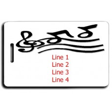 Music Notes Luggage Tag Same Both Sides