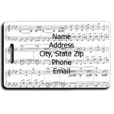 MUSIC SCORE LUGGAGE TAGS - SAME BOTH SIDES