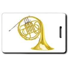 Single French Horn Luggage Tag