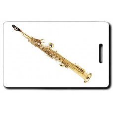 Soprano Sax Luggage Tag