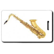 Tenor Sax Luggage Tag