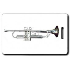 Silver Trumpet Luggage Tag
