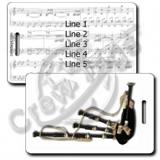 BAGPIPE LUGGAGE TAGS