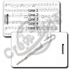BASS FLUTE LUGGAGE TAGS