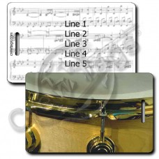 DRUM LUGGAGE TAGS