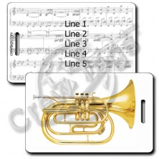 FRENCH HORN LUGGAGE TAGS