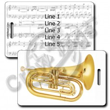 MARCHING BARITONE LUGGAGE TAGS