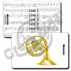 SINGLE FRENCH HORN LUGGAGE TAGS