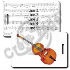 STRING BASS LUGGAGE TAGS
