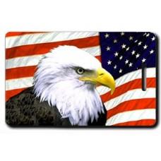 AMERICAN FLAG AND EAGLE LUGGAGE TAGS
