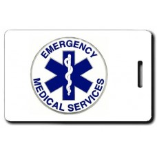 EMS Logo with EMS Back Luggage Tags