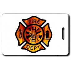 Maltese Fire Cross with FIRE Back Luggage Tags