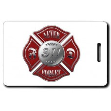 9/11 MALTESE CROSS NEVER FORGET LUGGAGE TAG